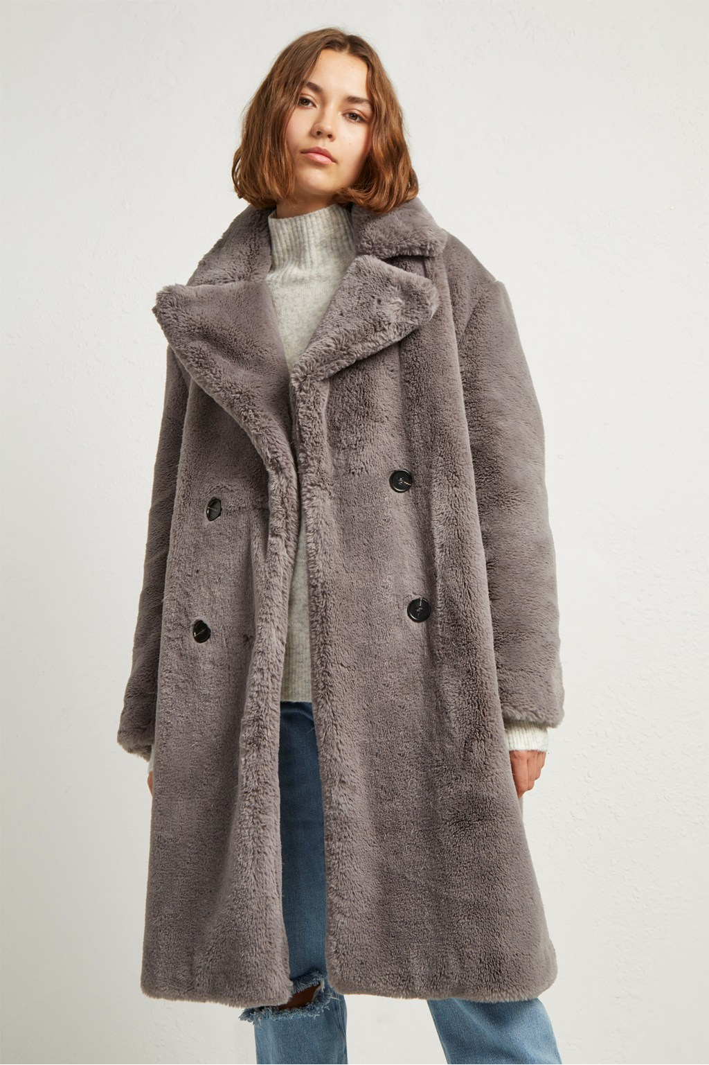 3d9d5dcee Annie Faux Shearling Coat | Collections | French Connection