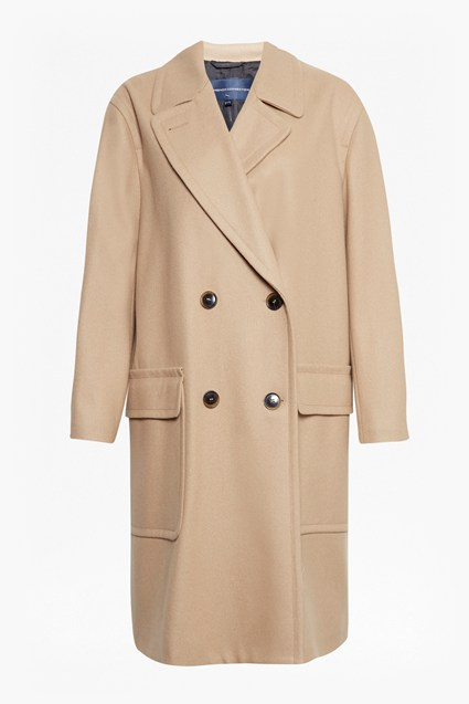 Platform Oversized Felt Double Breasted Coat