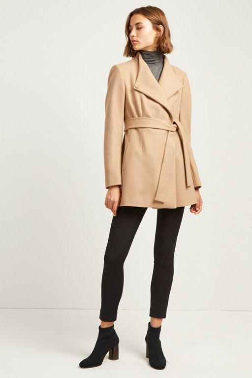 platform felt cross over coat