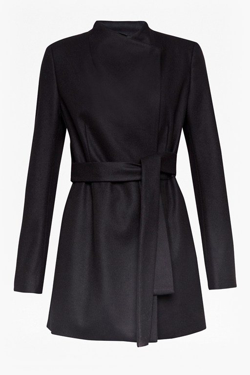 Complete the Look Platform Felt Cross Over Coat