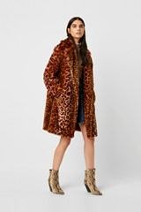 Analia Ombre Faux Fur Cheetah Coat