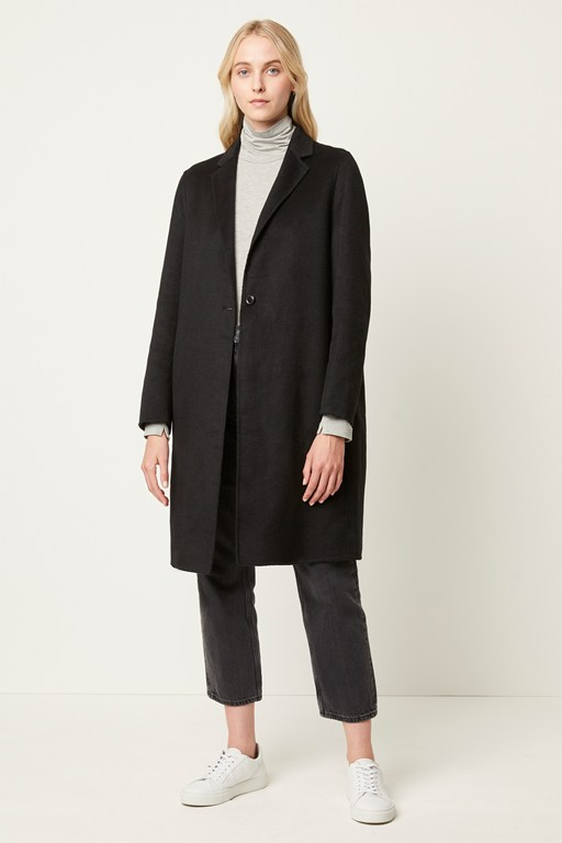 anya wool single breasted coat