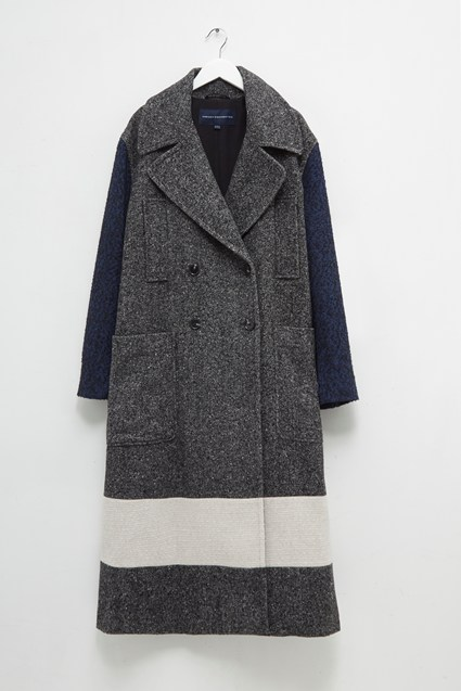 Ceri Mix Tweed Longline Pea Coat