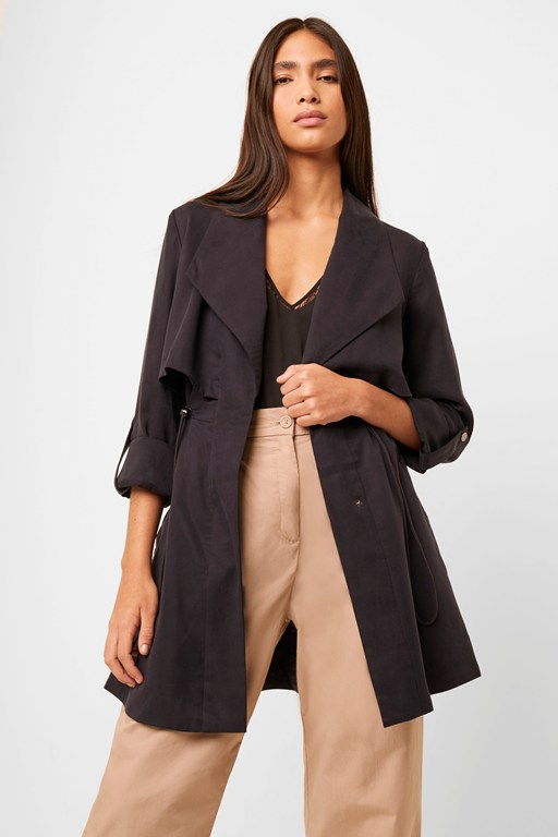 carla lyocell oversized short coat