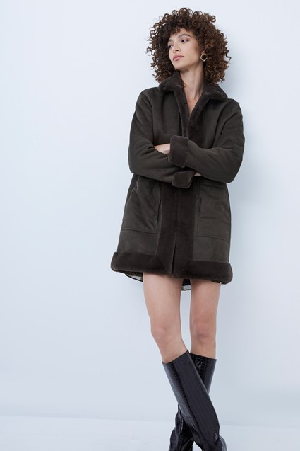 Alvira Faux Fur Reversible Coat