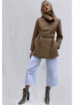 Ricio Platform Wool Wrap Coat