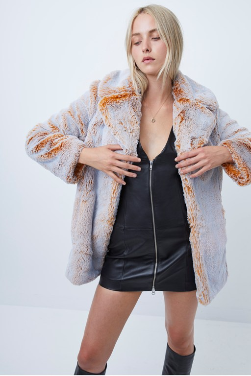 danitanna faux fur coat