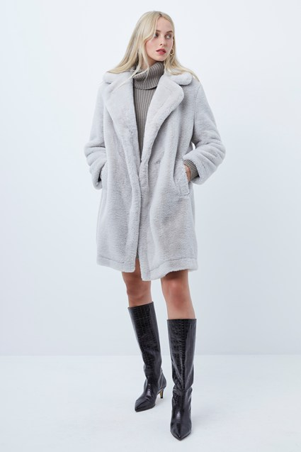 Banna Long Faux Fur Coat