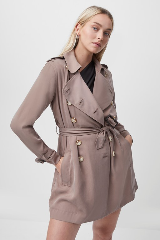 ceza belted trench coat