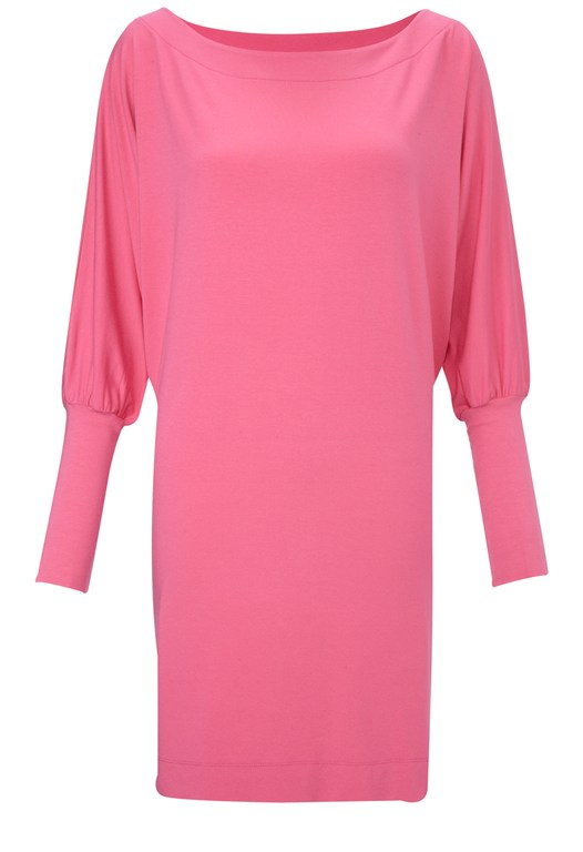 Soft Batwing Dress Pink