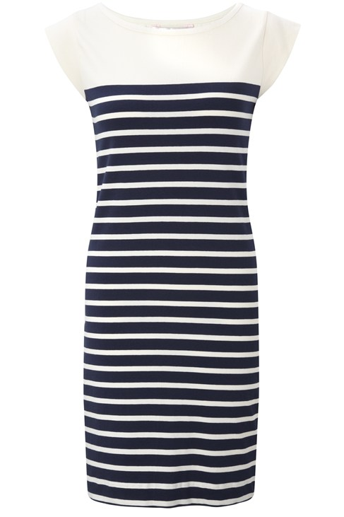 Matelot Stripe Cap Sleeve Dress