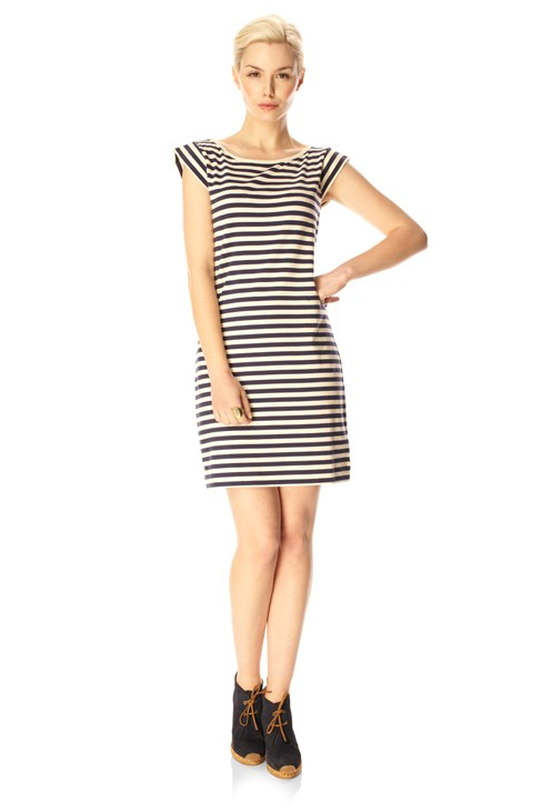 Toulouse Stripe Cap Sleeve Dress