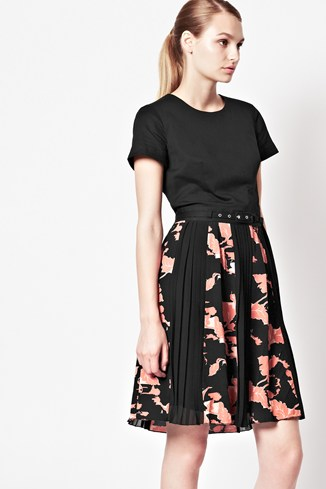 Vine Bloom Flared Dress