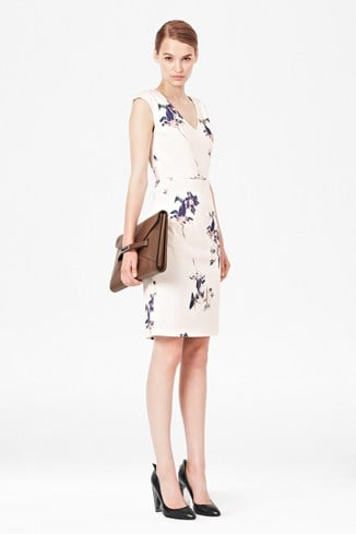 Water Flower Fitted Dress