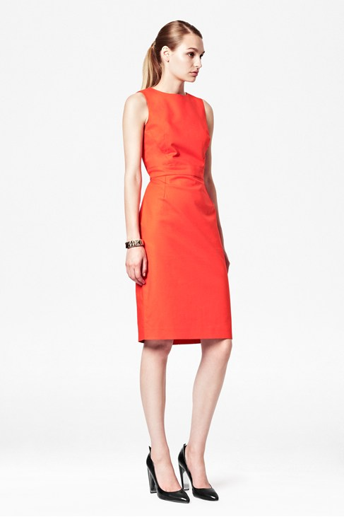 Tex Viva Fitted Red Knee-Length Dress