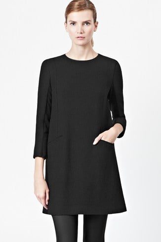 Winter Walk Textured Shift Dress