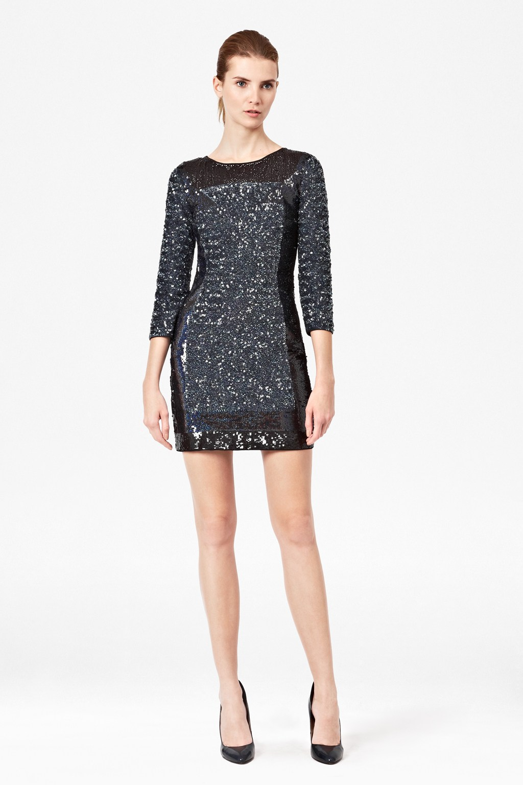 Black Sequin Tunic Dress - Artee Shirt