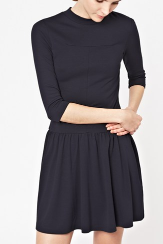 Eddie Jersey Drop-Waisted Dress