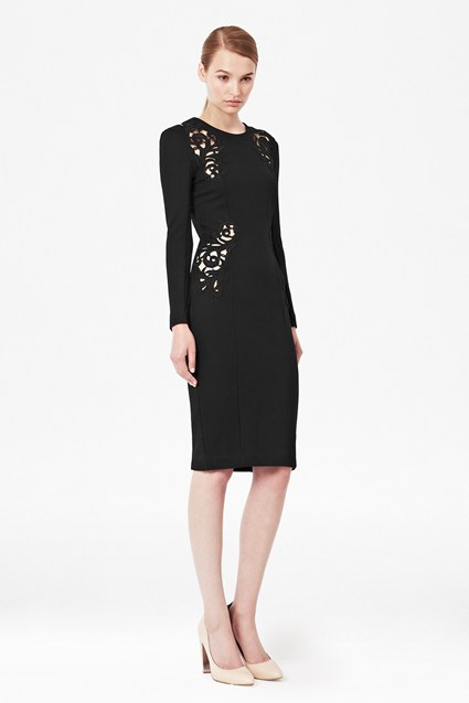 Marie Stretch Embroidered Dress