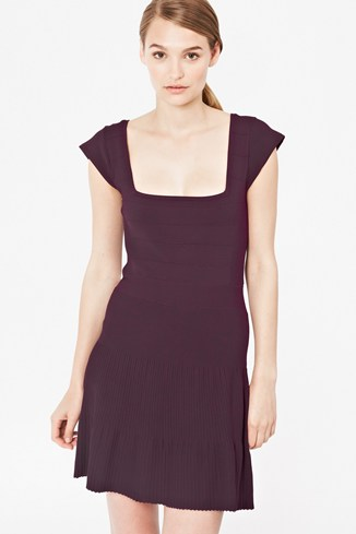 Polly Pleats Flared Dress