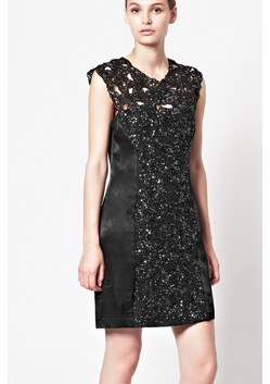 Encrusted Lace Fitted Dress