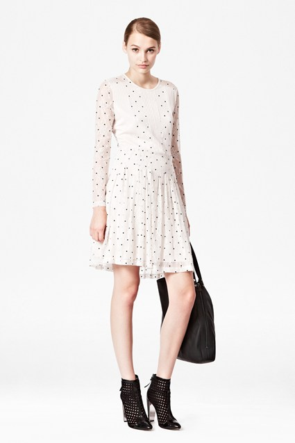 Hot Spot Lace Flared Dress