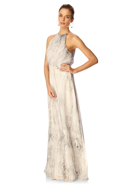 Spring Moiree Maxi Dress