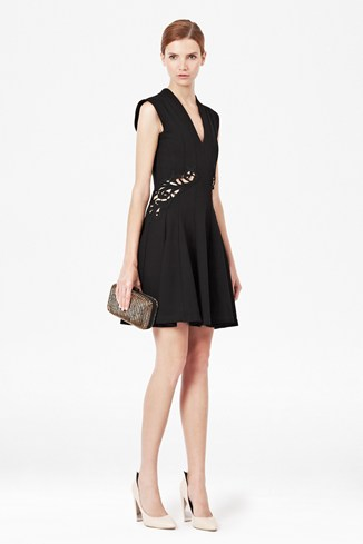 Marie Stretch Embroidery Dress