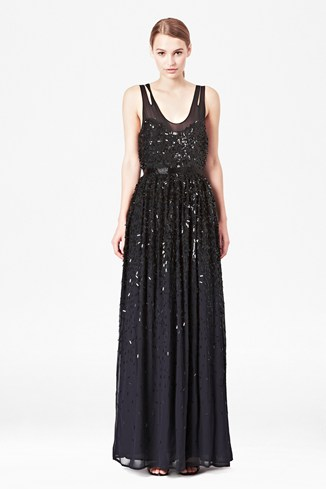 Shimmer Shower Maxi Dress