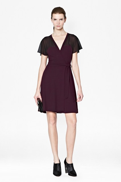 Alexa Jersey Wrap Dress