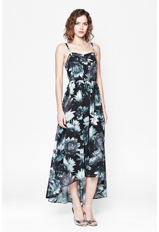 Lily Collage Midi Dress