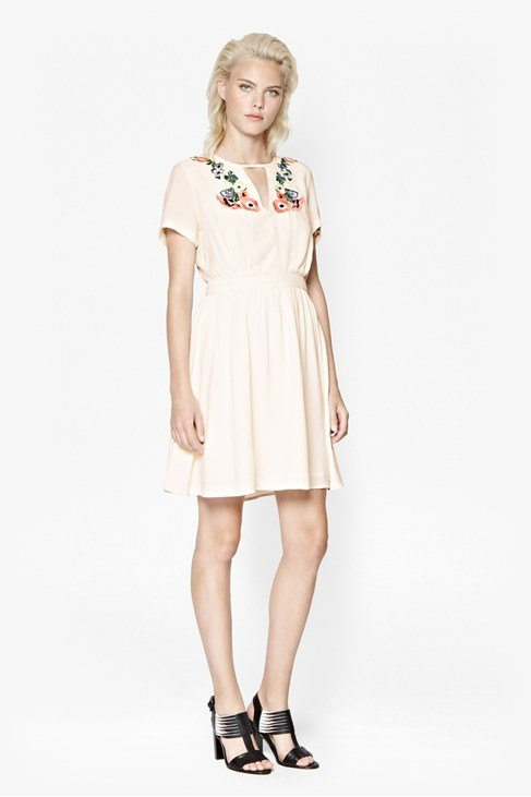 Melrose Stitch Flared Dress