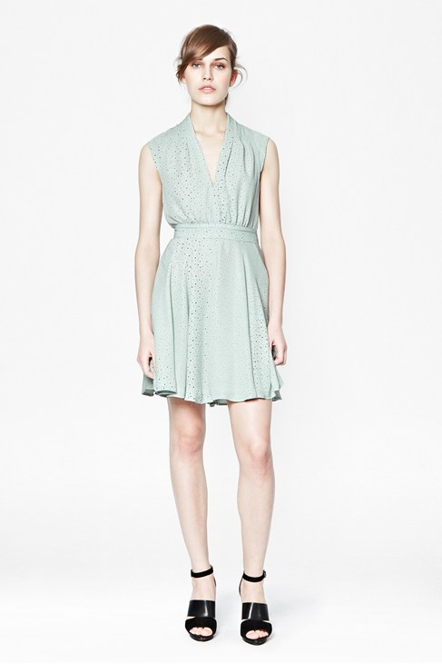 Memphis Spray V-Neck Dress