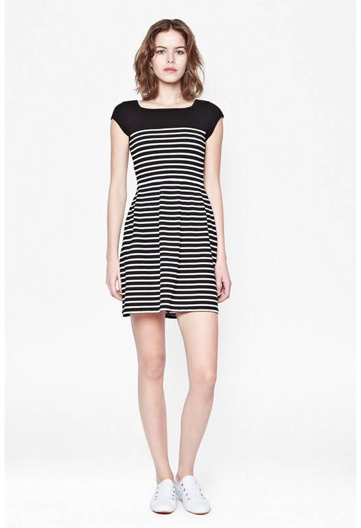 County Cotton Striped Dress