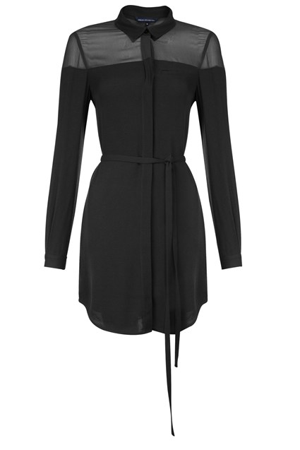 Night Night Crepe Shirt Dress