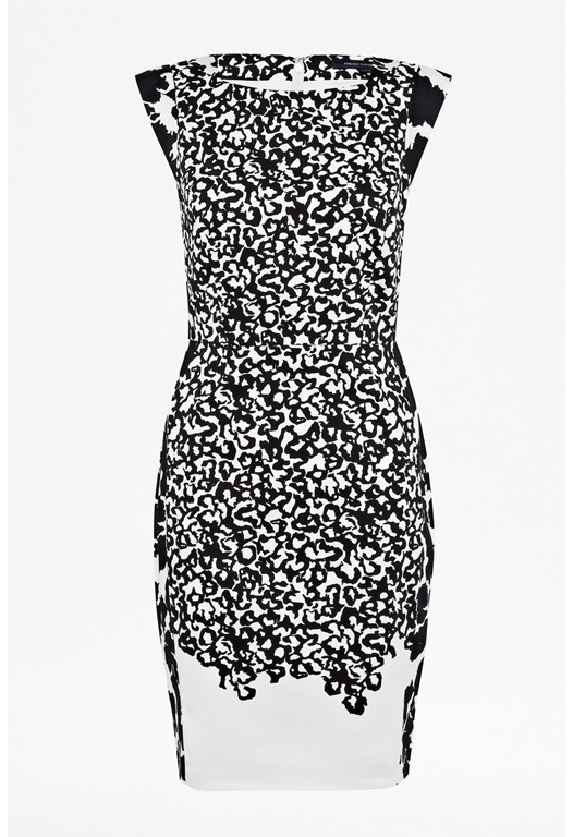 Animal Mechanical Printed Dress