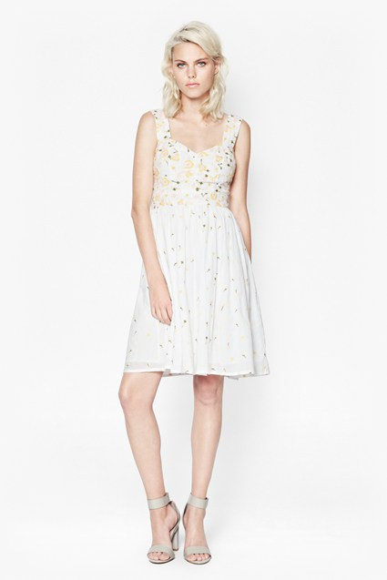 Joni Stitch Flared Dress