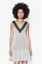 Looks Great With Colour Block Texture Dress