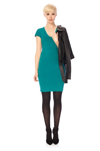 Dani Crepe V Neck Dress