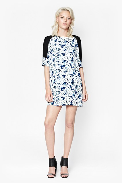Porcelain Sheen Tunic Dress