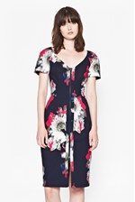 Looks Great With Wilderness Bloom V-Neck Dress