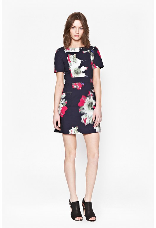Wilderness Bloom Slash Neck Dress