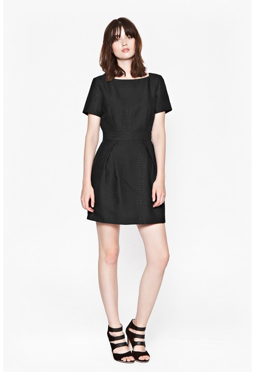 Croc Luxe Structured Dress