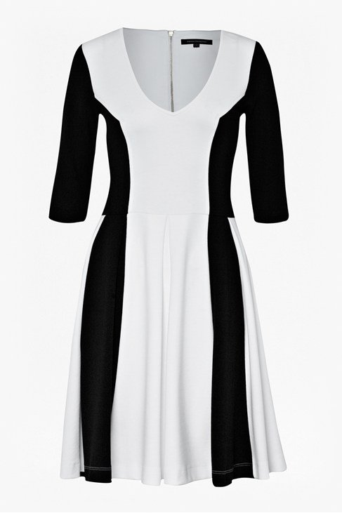 Abney Jersey Flared Dress