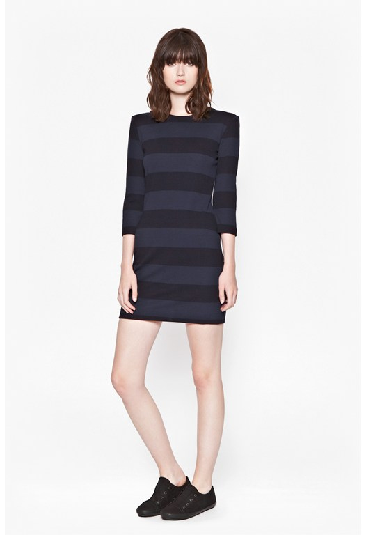 Manhattan Winter Striped Dress