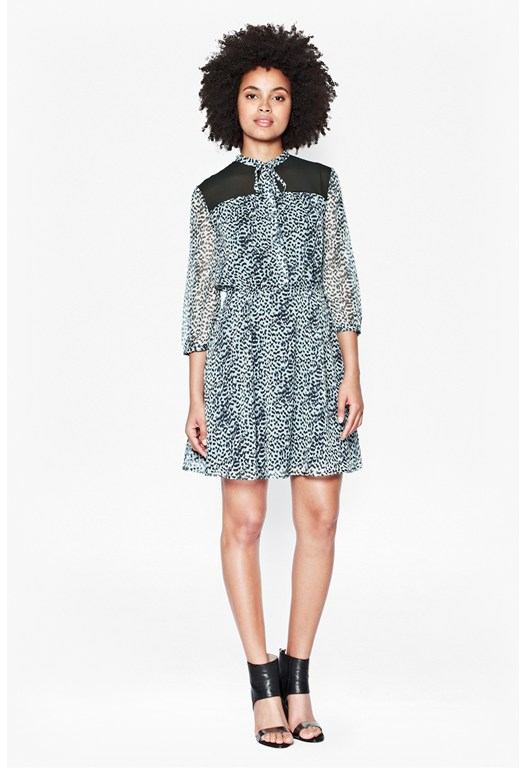Wildcat Tie Neck Dress