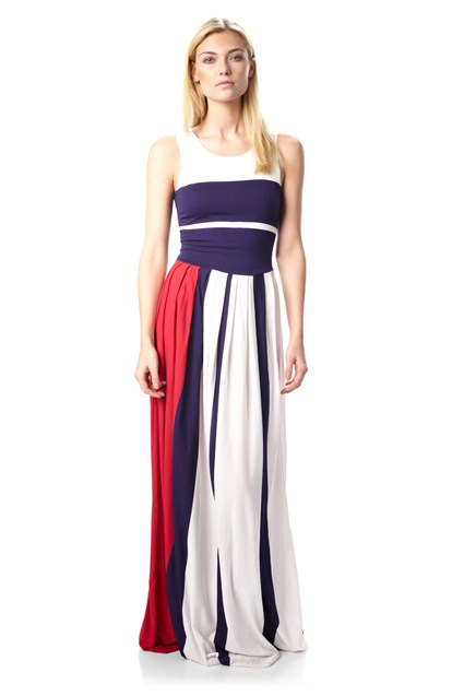 Medina Striped Maxi Dress