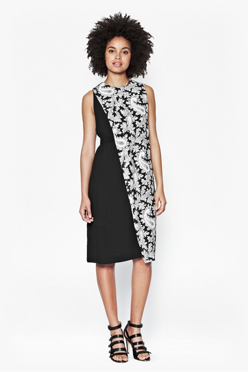 Paisley Party Crepe Dress