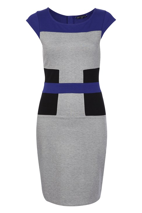 Manhattan Jersey Block Dress