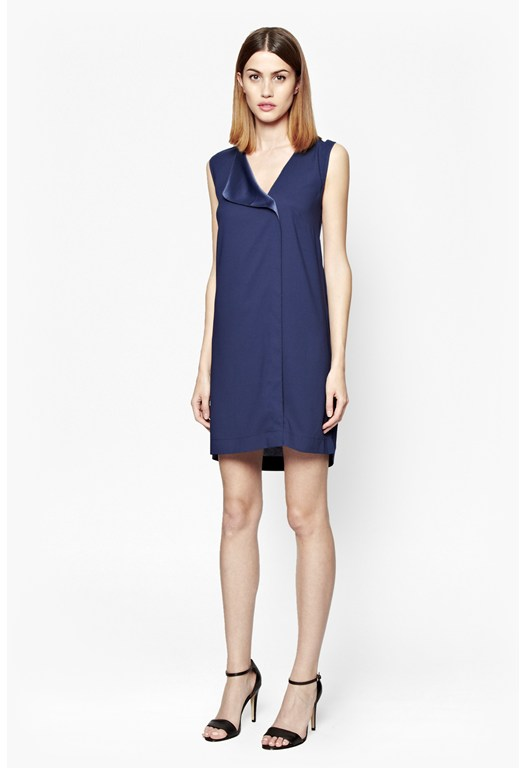 Polly Plain Raw Edge Dress